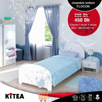 Soldes Kitea Chevet 1 tiroir 1 niche FLOCON 450Dhs au lieu de 695Dhs