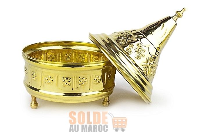Soldes Jumia Tajine artisanale 13 /20 cm cuivre doré 89Dhs au lieu de 120Dhs