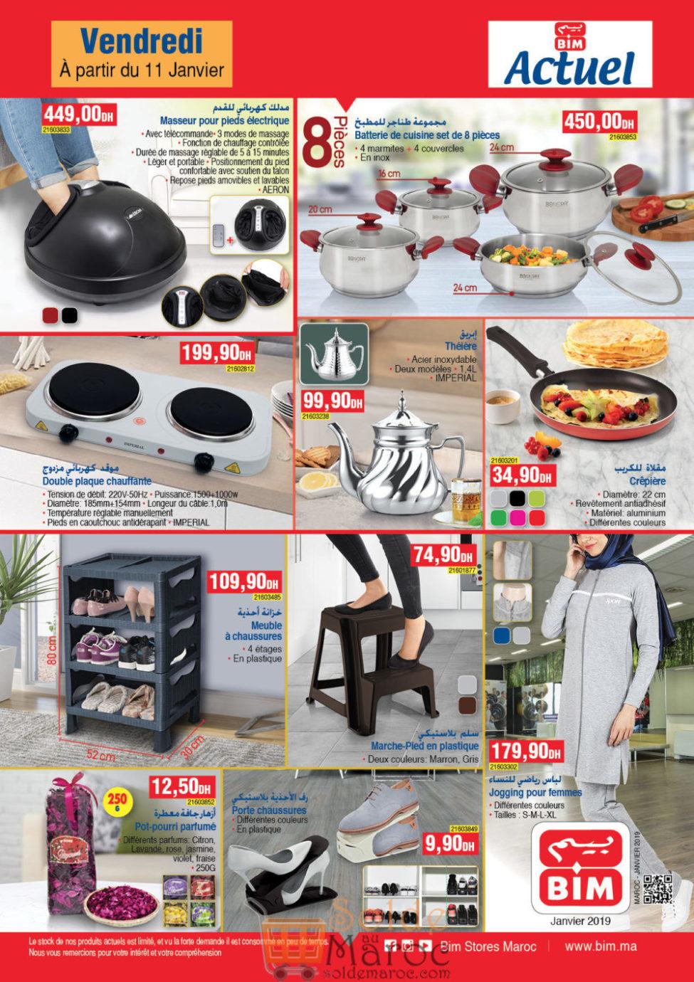 Catalogue Bim Maroc du Vendredi 11 Janvier 2019