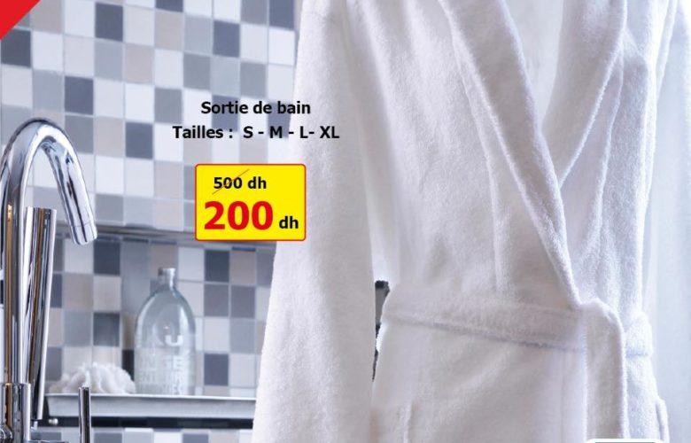 Promo Alpha55 Sortie de bain 200Dhs au lieu de 500Dhs