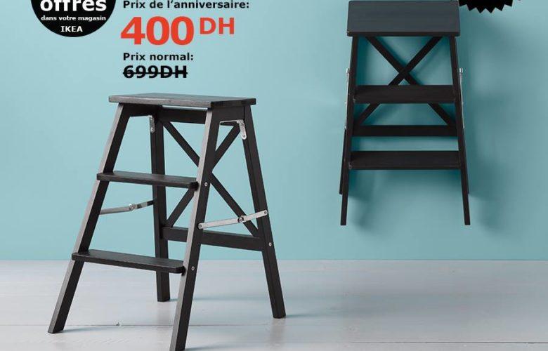 Soldes Ikea Maroc Escabeaux 3 marches noir 400Dhs au lieu de 699Dhs