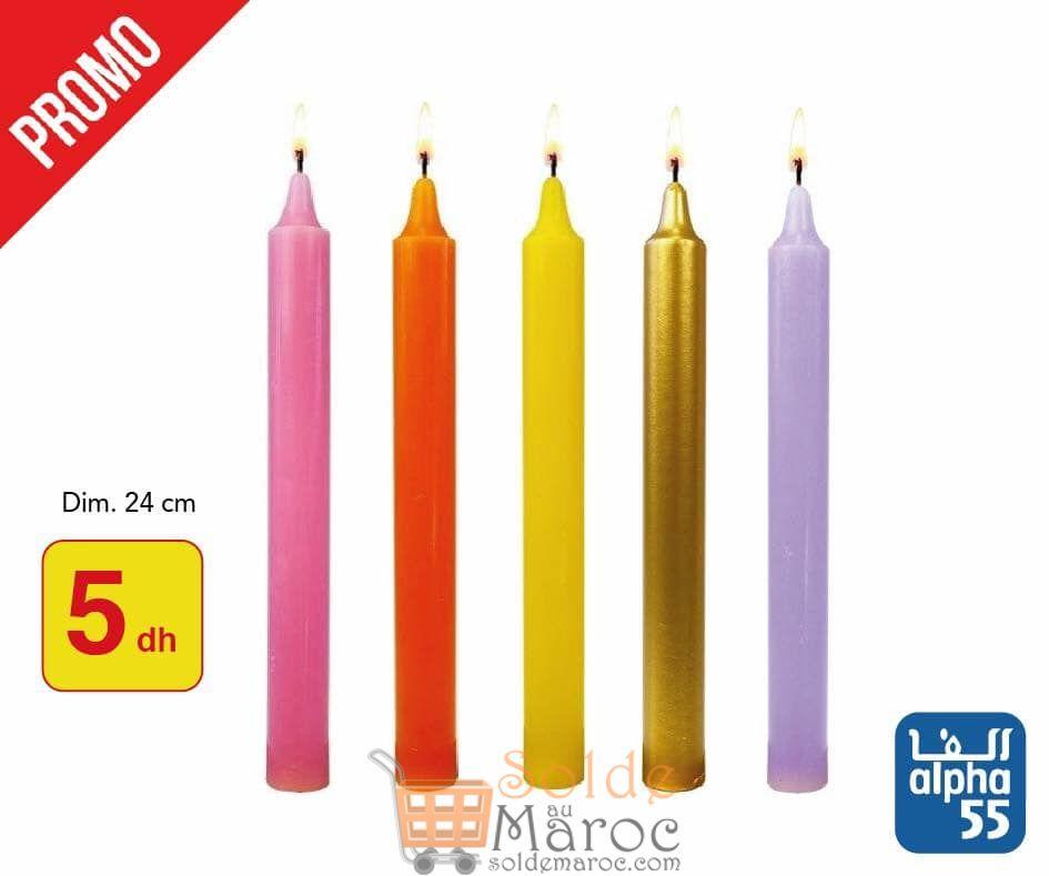 Promo Alpha55 Bougie Multi-color