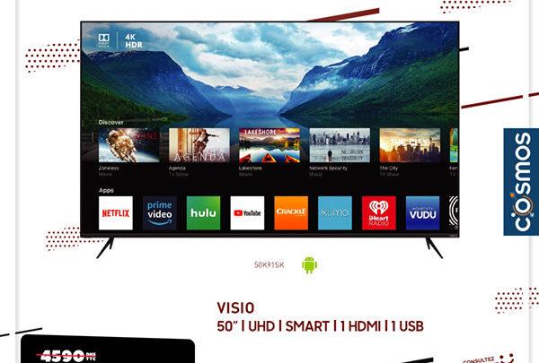 Photo of Soldes Cosmos Electro Smart TV 50° 4K VISIO 3990Dhs au lieu de 4590Dhs