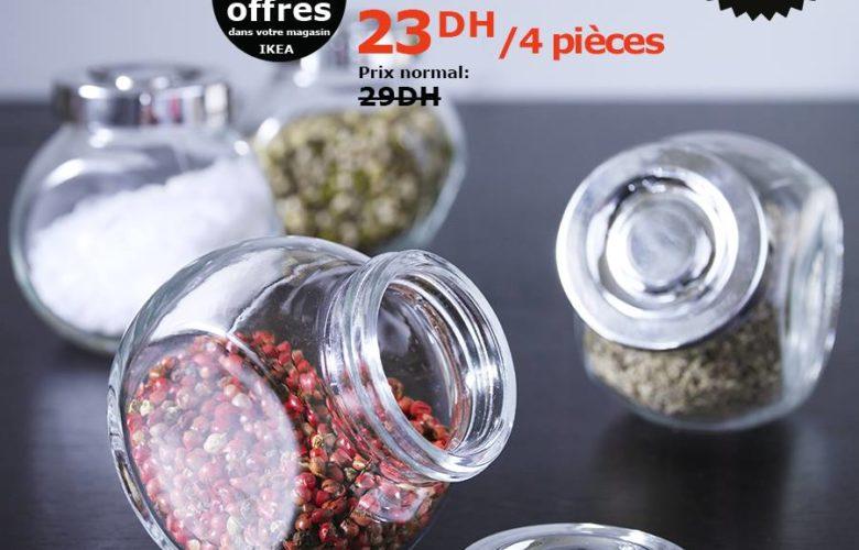 Soldes Ikea Maroc Bocal à épices RAJTAN 23Dhs au lieu de 29Dhs