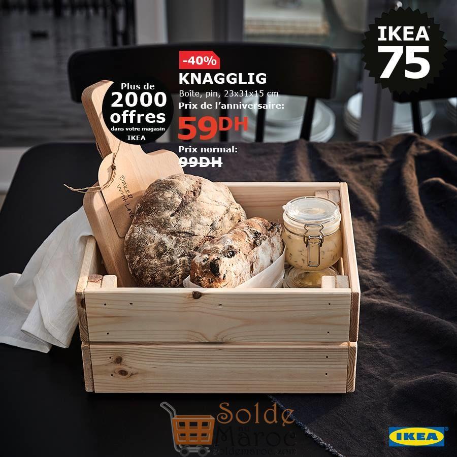 Soldes Ikea Maroc Boite pin KNAGGLIG 59Dhs au lieu de 99Dhs