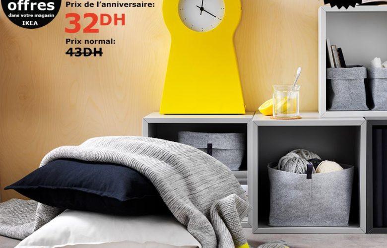 Soldes Ikea Maroc Housse de coussin blanc 32Dhs au lieu de 43Dhs