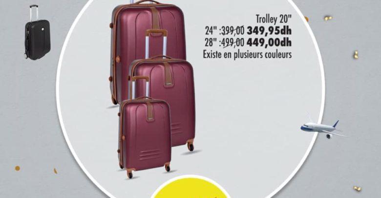 Photo of Soldes Aswak Assalam Trolley 20″ différents couleurs 269Dhs au lieu de 299Dhs