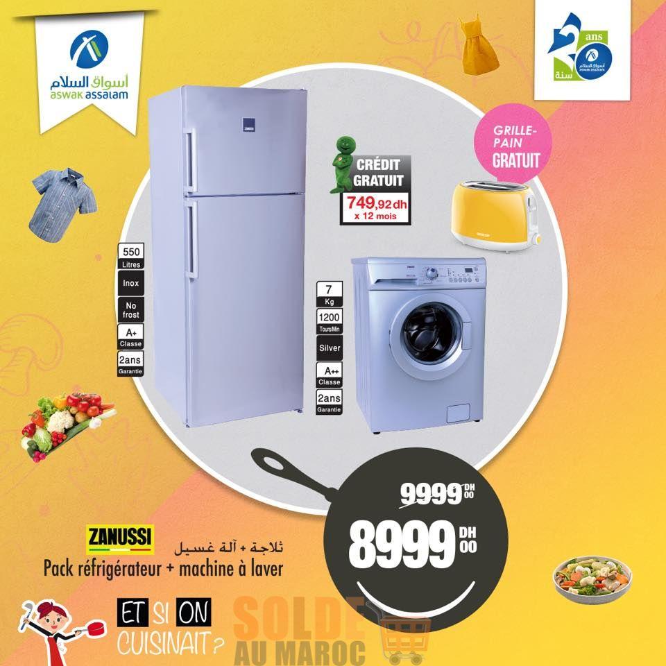 Soldes Aswak Assalam Pack ZANUSSI 8999Dhs au lieu de 9999Dhs