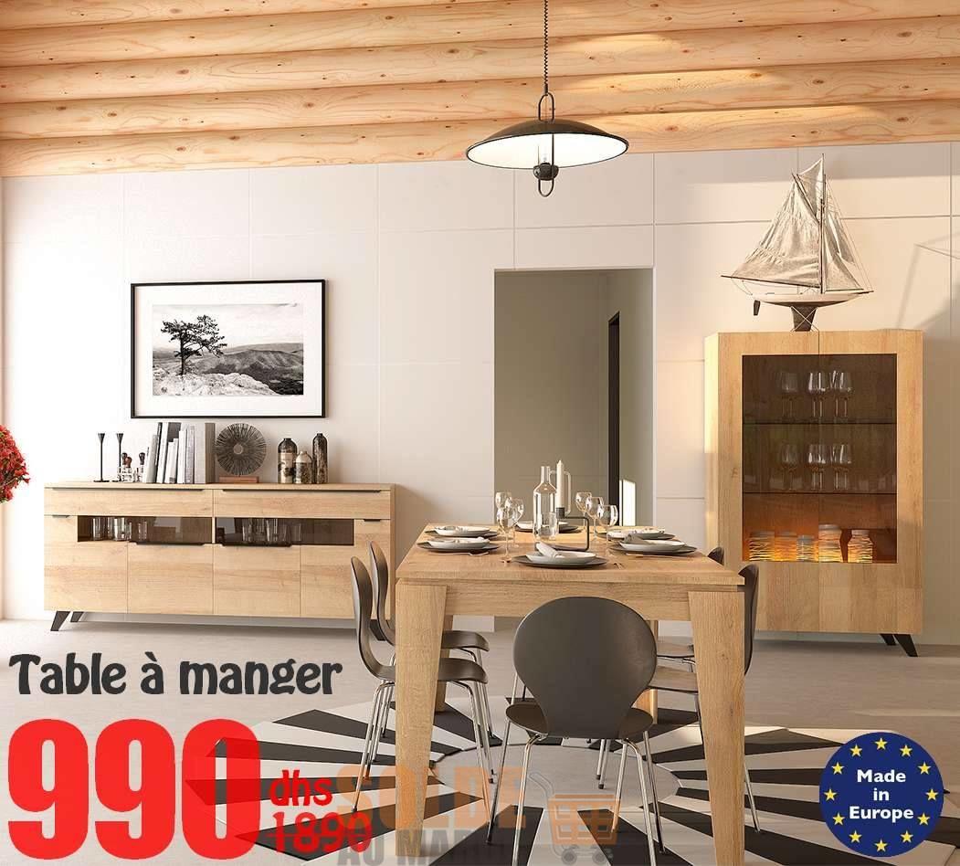 Soldes Azura Home TABLE VALDI 160 CM 990Dhs au lieu de 1989Dhs