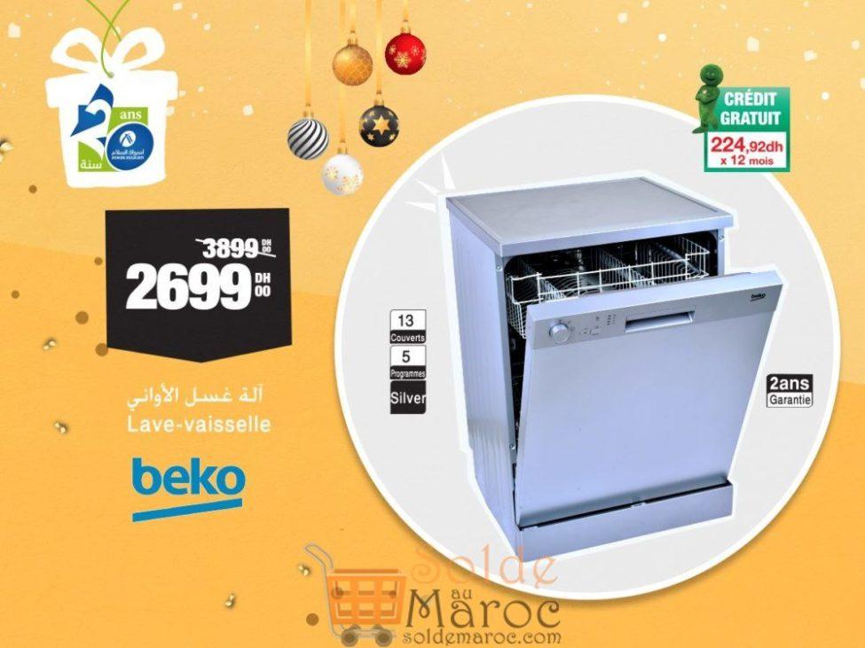 Soldes Aswak Assalam Lave-vaisselle BEKO 2699Dhs au lieu de 3899Dhs