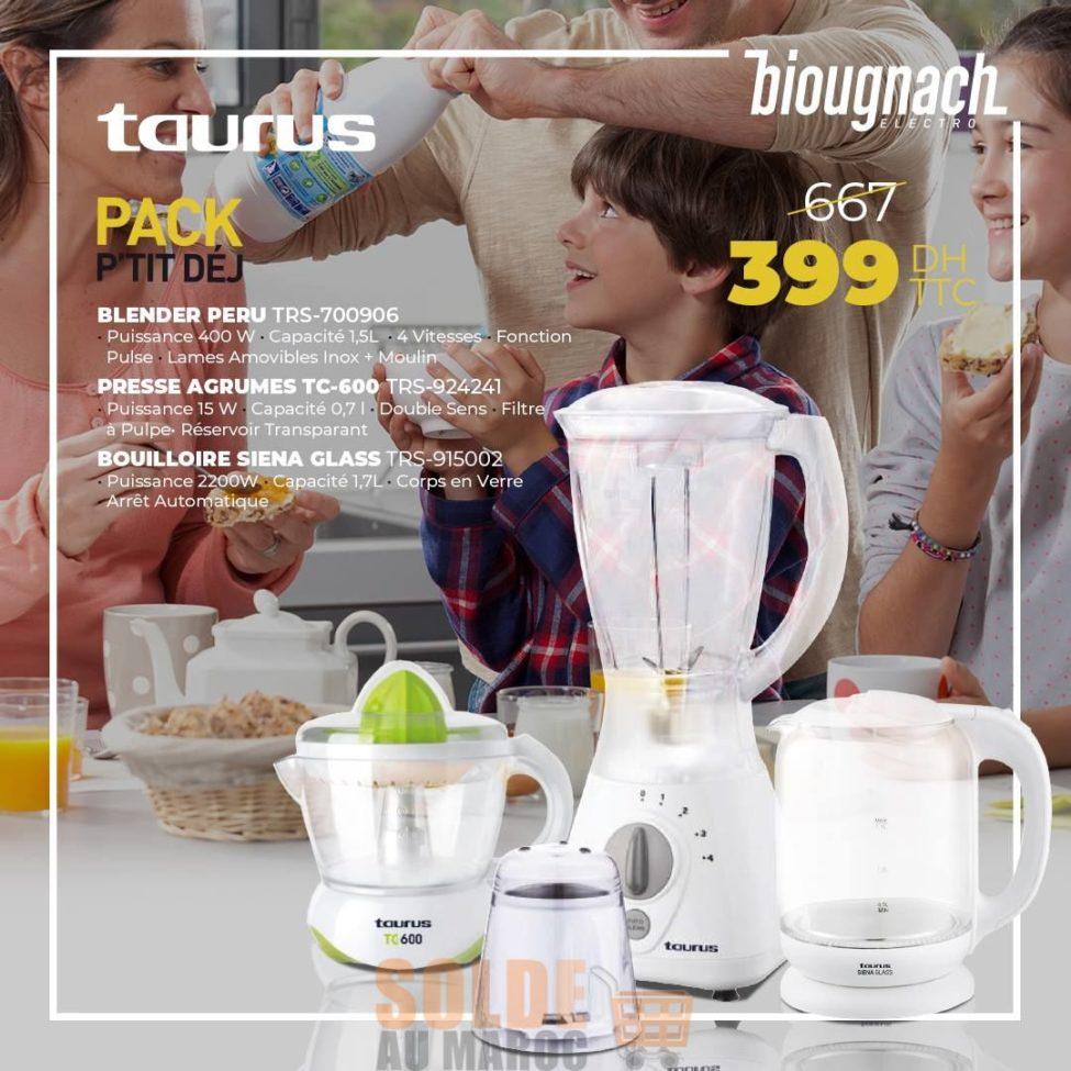 Soldes Biougnach Pack p'tit déj TAURUS 399Dhs au lieu de 669Dhs