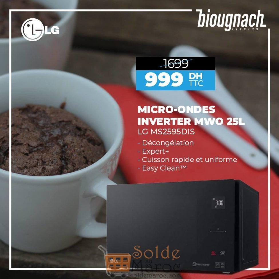 Promo Biougnach Electro Micro-ondes LG 25L 999Dhs au lieu de 1699Dhs