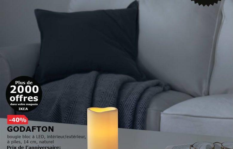 Soldes Ikea Maroc Bougie bloc à LED GODAFTON 29Dhs au lieu de 49Dhs