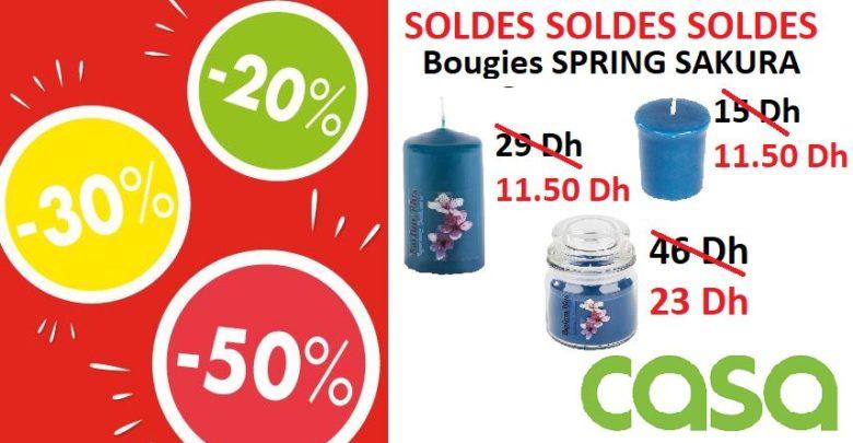 Photo of Soldes CASA Maroc Bougies SPRING SAKURA à partir de 11.50Dhs