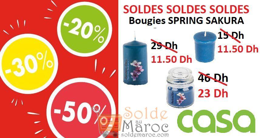 Soldes CASA Maroc Bougies SPRING SAKURA à partir de 11.50Dhs