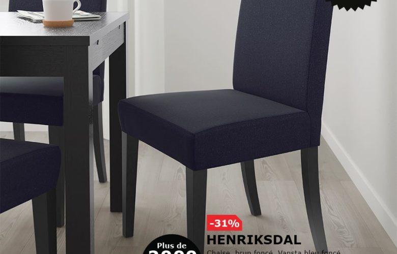 Soldes Ikea Maroc Chaise Brun Fonce HENRIKSDAL 820Dhs Au Leiu De 1195Dhs