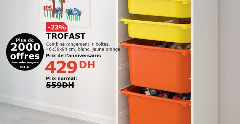 Soldes Ikea Maroc Combiné rangement + Boites TROFAST 429Dhs au lieu de 559Dhs