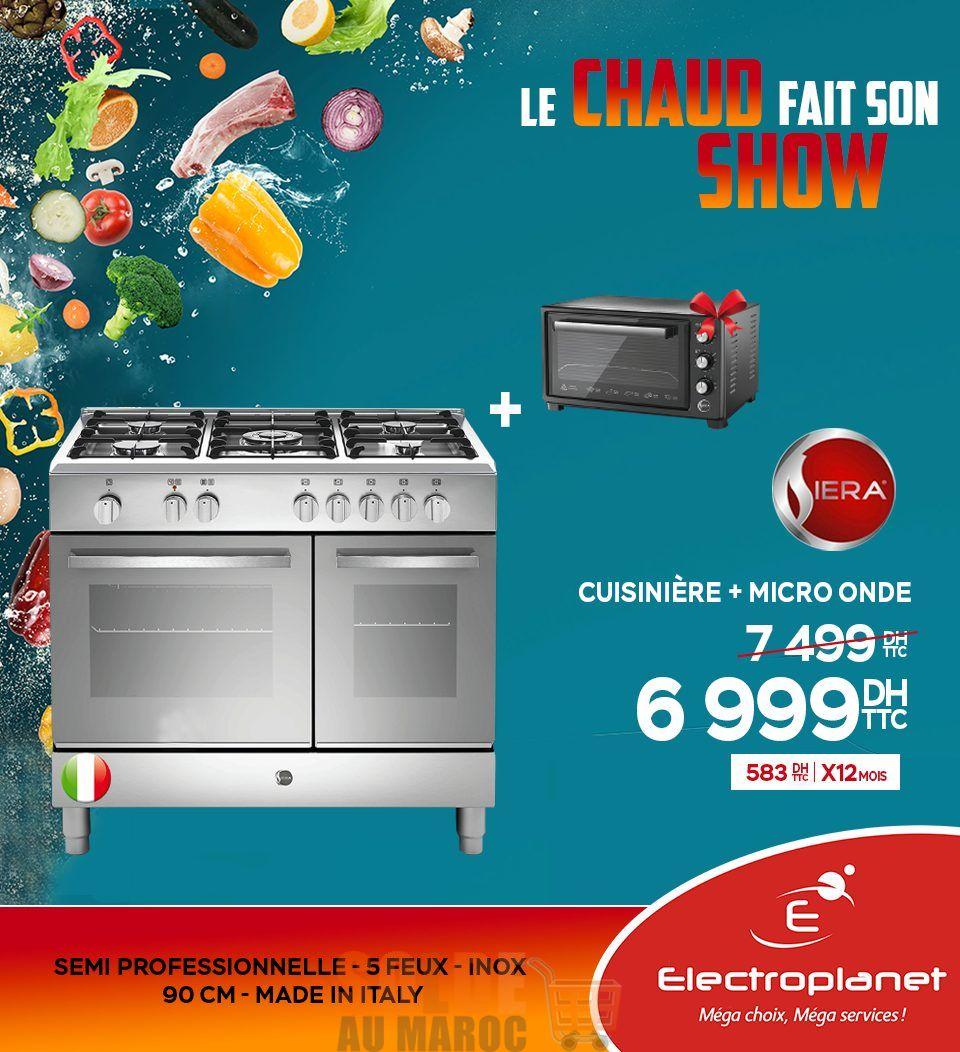 Promo Electroplanet Cuisinière + Micro-onde SIERA 6999Dhs au lieu de 7499Dhs