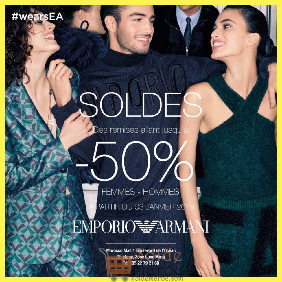 Soldes d'hiver Emporio Armani Maroc jusqu'à -50%