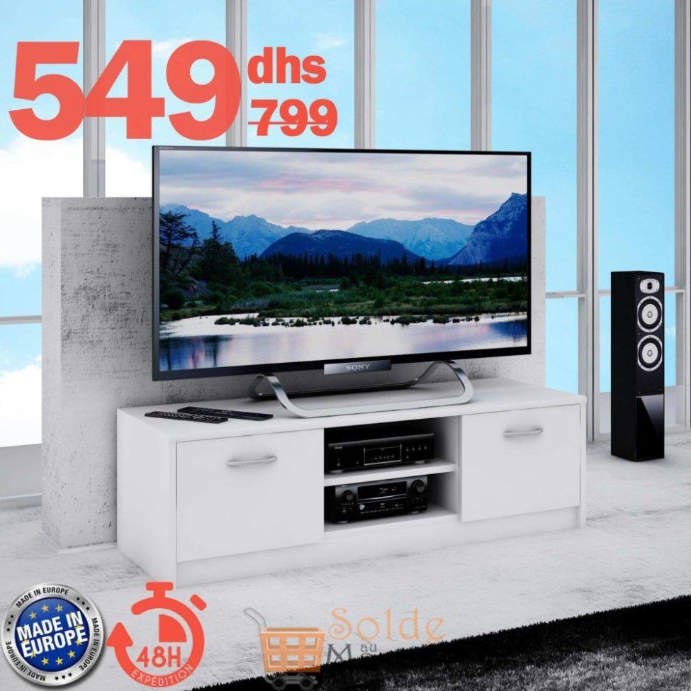 Soldes Azura Home MEUBLE TV FOCACIA 120CM 549Dhs au lieu de 799Dhs