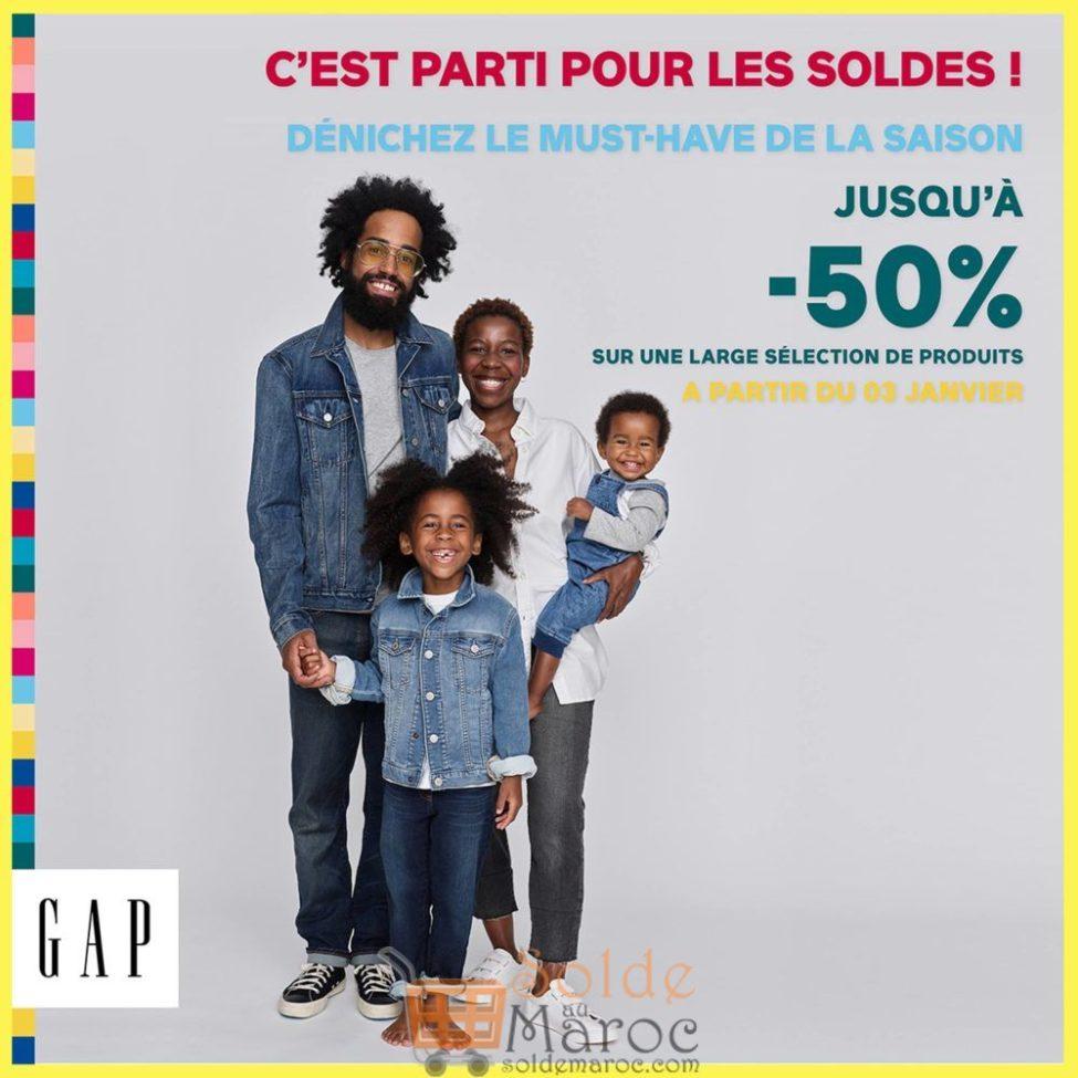 Soldes d'hiver GAP Maroc jusqu'à -50%