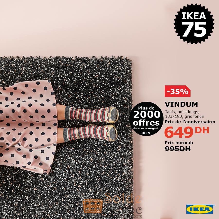 Soldes Ikea Maroc Tapis polis longs gris foncé 649Dhs au lieu de 995Dhs