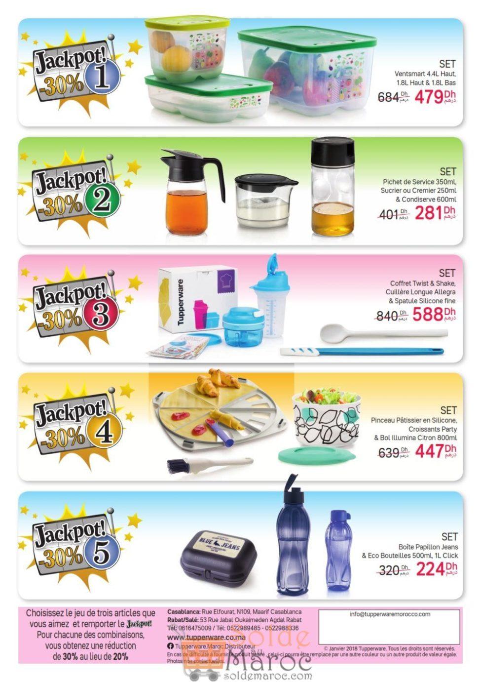 Catalogue Tupperware Maroc JACKPOT Jusqu'au 6 Janvier 2019