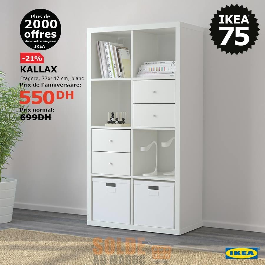 Soldes Ikea Maroc étagère KALLAX 550Dhs au lieu de 699Dhs