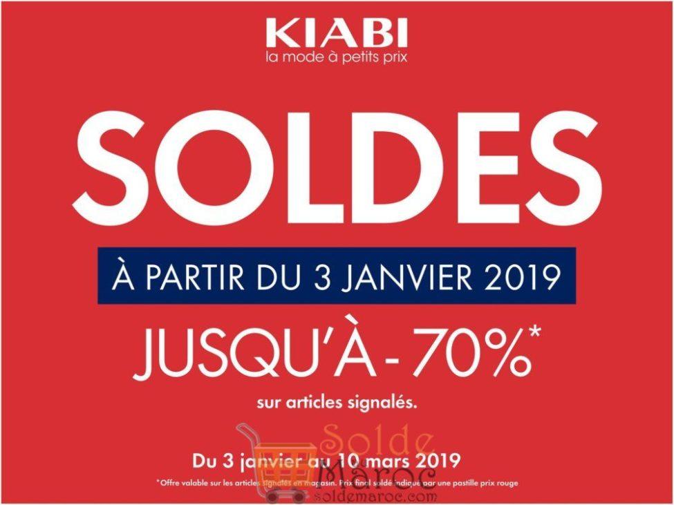 Soldes Kiabi Maroc Jusqu'à -70% du 3 Janvier au 10 Mars 2019