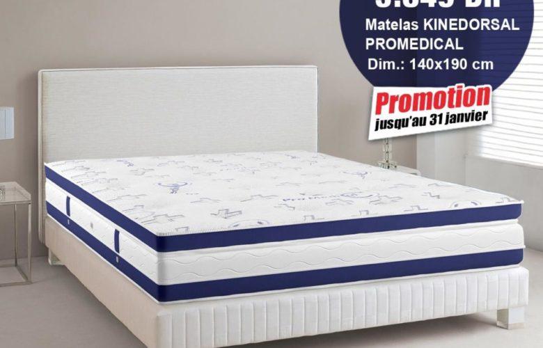 Promo Janvier Kitea Matelas KINEDORSAL PROMEDICAL 3849Dhs au lieu de 4149Dhs