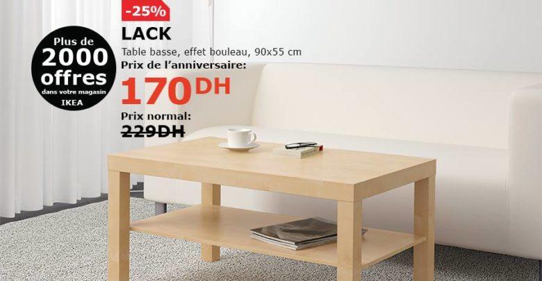 Photo of Soldes Ikea Maroc Table basse LACK 170Dhs au lieu de 299Dhs