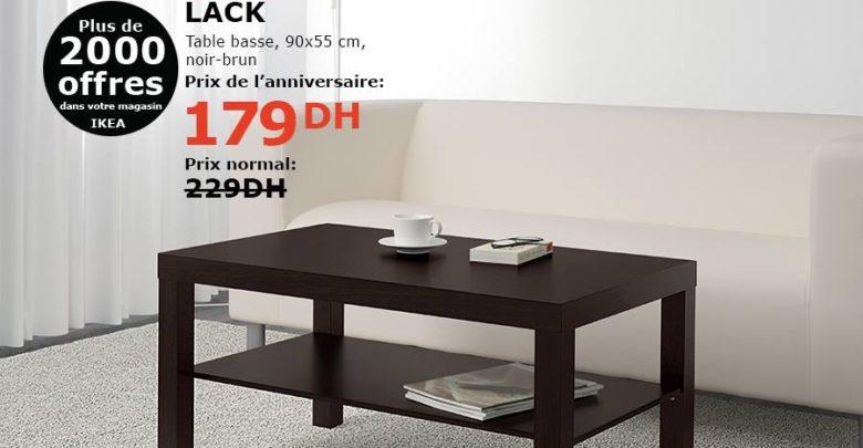Photo of Soldes Ikea Maroc Table basse noir-brun LACK 179Dhs au lieu de 229Dhs