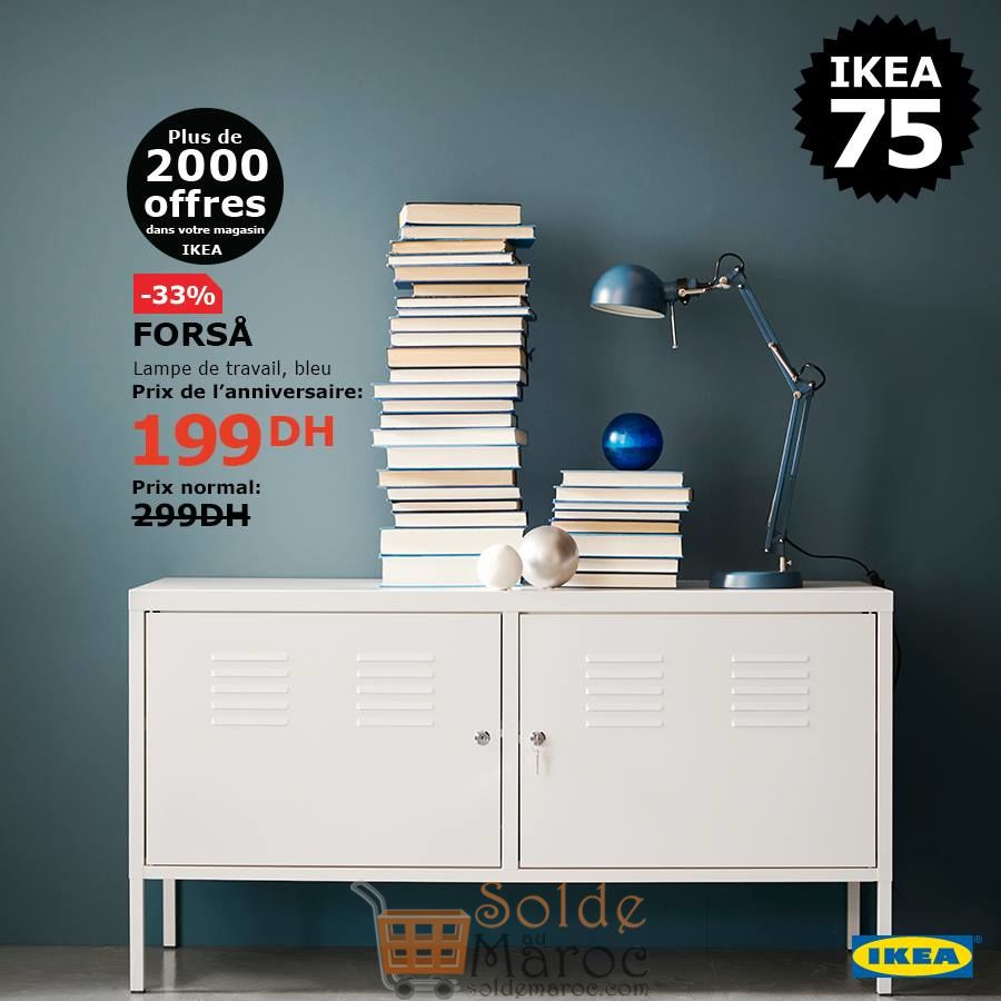 Soldes Ikea Maroc Lampe de travail bleu FORSA 199Dhs au lieu de 299Dhs
