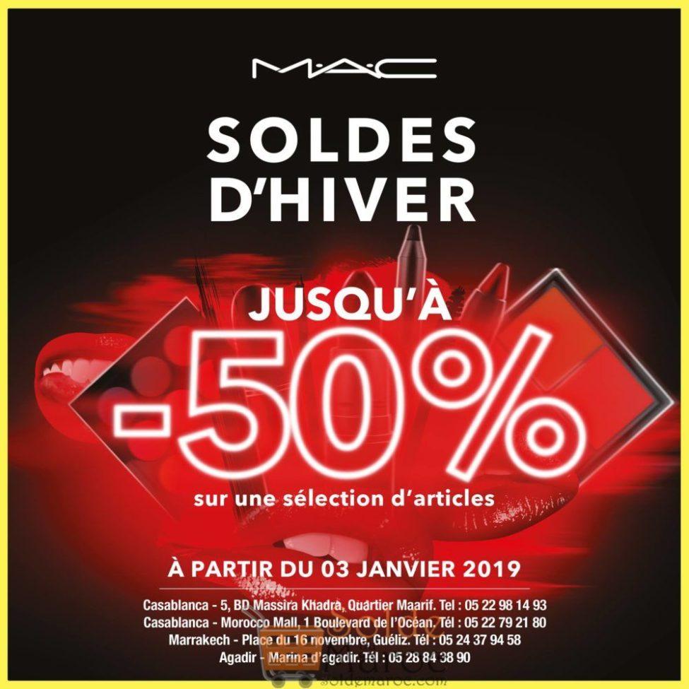 Soldes d'hiver 2019 chez MAC Cosmetics Maroc jusqu'à -50%