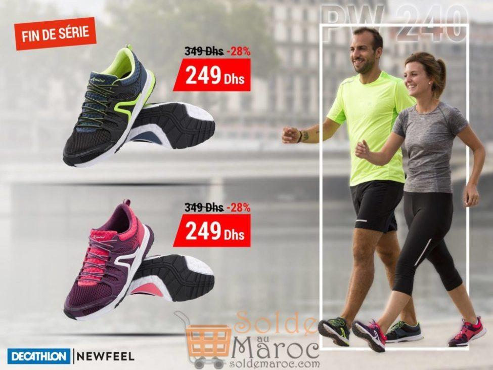 Soldes Decathlon Maroc Chaussure Marche Newfeel PW240 249Dhs au lieu de 349Dhs