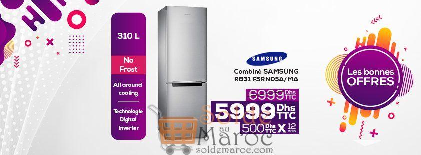 Soldes Le Comptoir Electro Réfrigérateur combiné SAMSUNG 5999Dhs au lieu de 6999Dhs