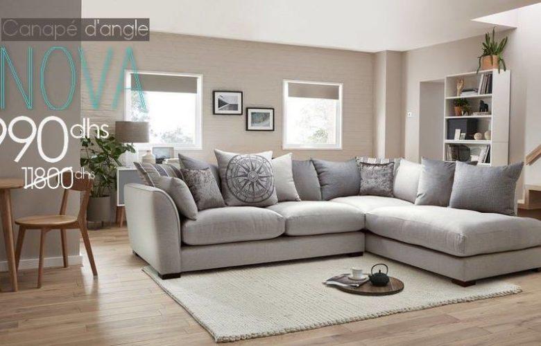 Soldes Azura Home CANAPÉ D'ANGLE NOVA 5990Dhs au lieu de 11790Dhs