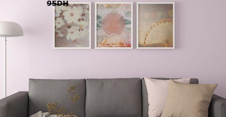 Photo of Soldes Ikea Maroc Poster 3 pièces un monde en rose BILD 59Dhs au lieu de 95Dhs