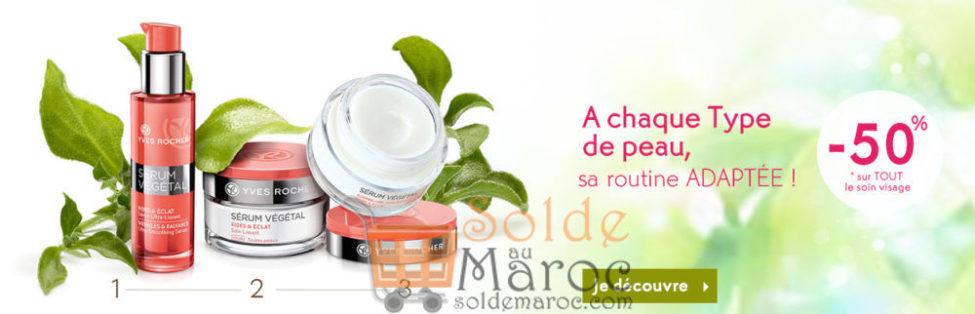 Soldes Yves Rocher Maroc -50% sur TOUT le soin visage