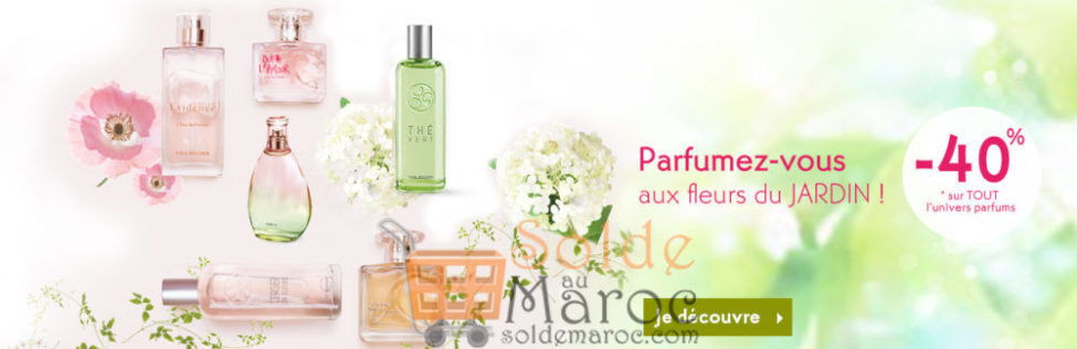 Soldes Yves Rocher Maroc -40% sur TOUT l'univers parfums