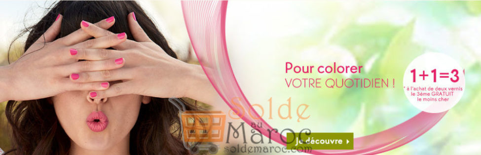 Soldes Yves Rocher Maroc Offre 1+1=3 Vernis