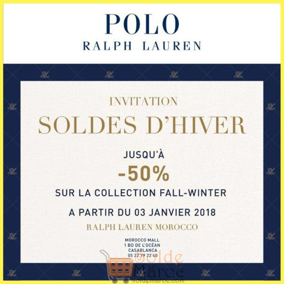 Soldes d'hiver 2019 chez RALPH LAUREN Maroc jusqu'à -50%