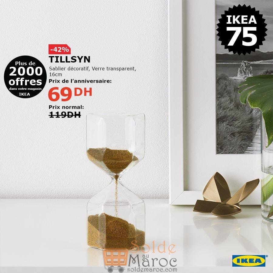 Soldes Ikea Maroc Sablier décoratif TILLSYN 69Dhs au lieu de 119Dhs