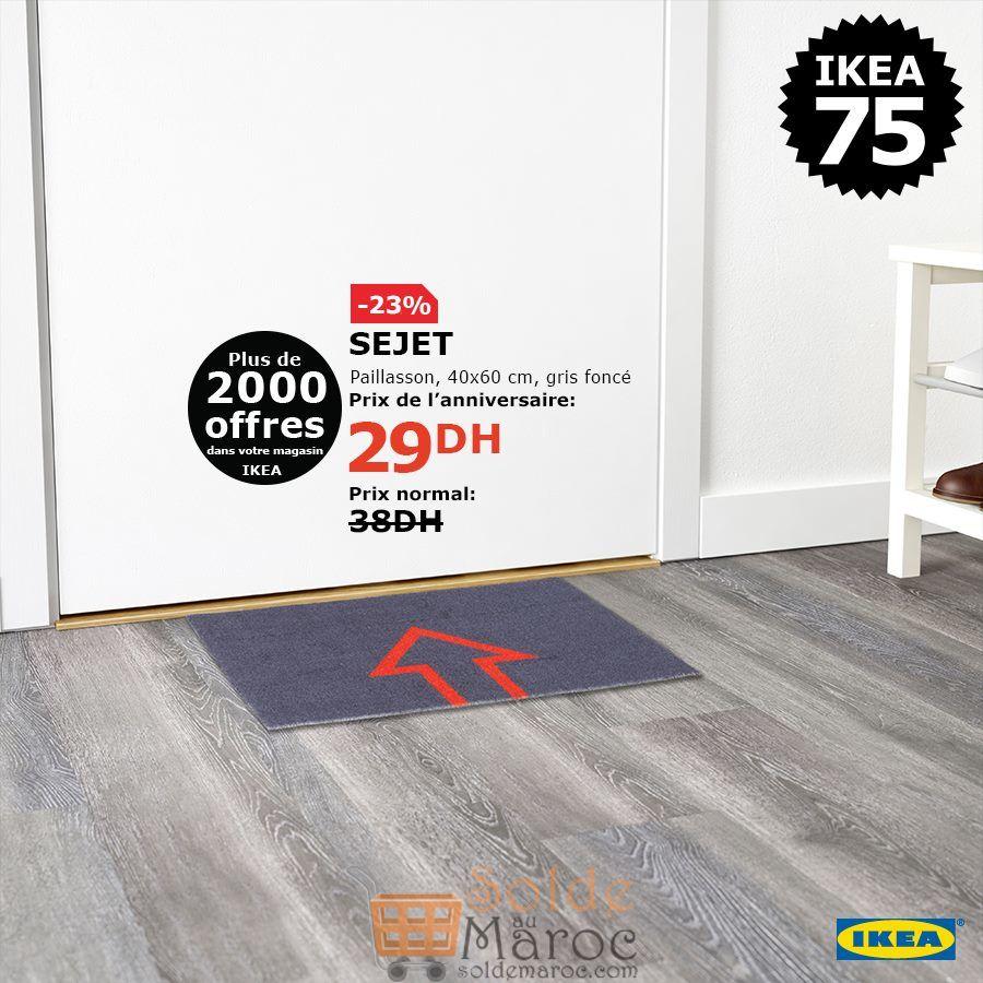 Soldes Ikea Maroc Paillasson gris foncé SEJET 29Dhs au lieu de 38Dhs