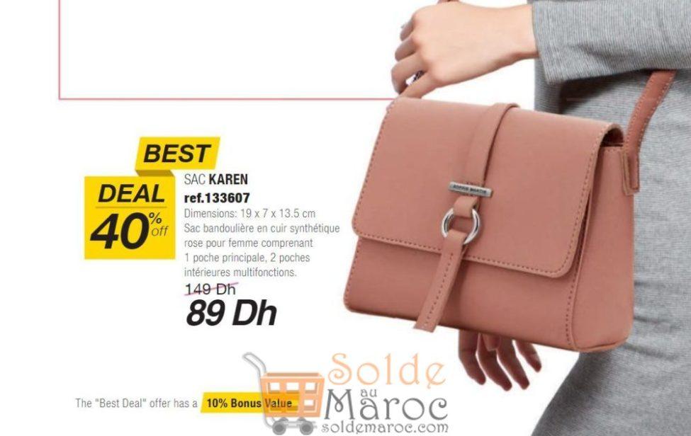 Best Deal Sophie Paris Maroc Sac KAREN 89Dhs au lieu de 149Dhs
