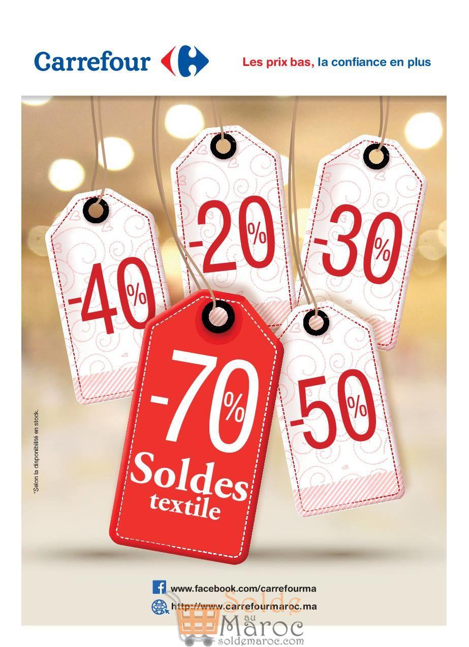 Soldes Textile chez Carrefour Maroc jusqu'à -70%