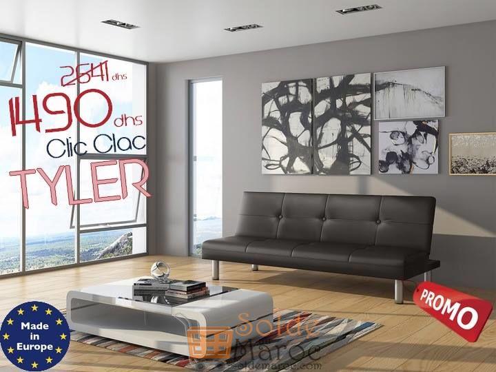 Solde Azura Home BANQUETTE CLIC CLAC TYLER 175CM 1490Dhs au lieu de 2641Dhs