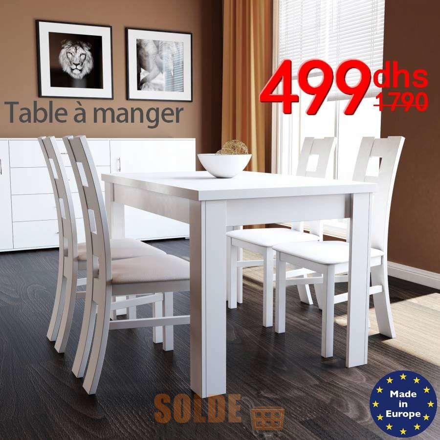 Soldes Azura Home TABLE UNIVERS BLANC 499Dhs au lieu de 2029Dhs