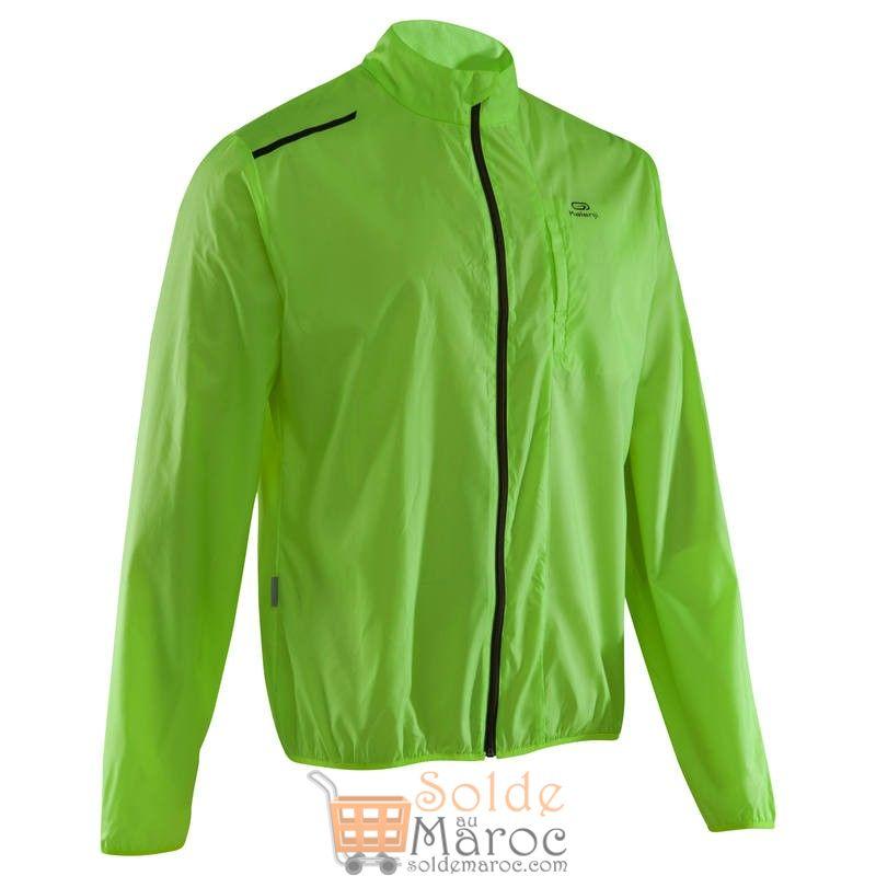Solde Decathlon Maroc Veste Running Homme Run Wind Jaune 79Dhs au lieu de 149Dhs