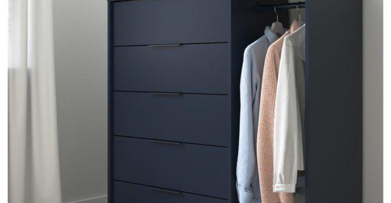 Photo of Promo Ikea Maroc Commode avec côté penderie NORDMELA bleu-noir 2545Dhs au lieu de 2995Dhs